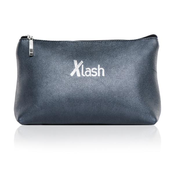 Синяя косметичка с логотипом Xlash