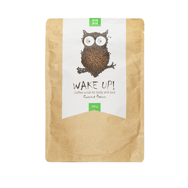 Wake Up Coffee scrub Coconut | Рост Ресниц